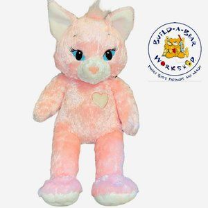 Build A Bear 18 inch Pink Sassy Cat kitty retired